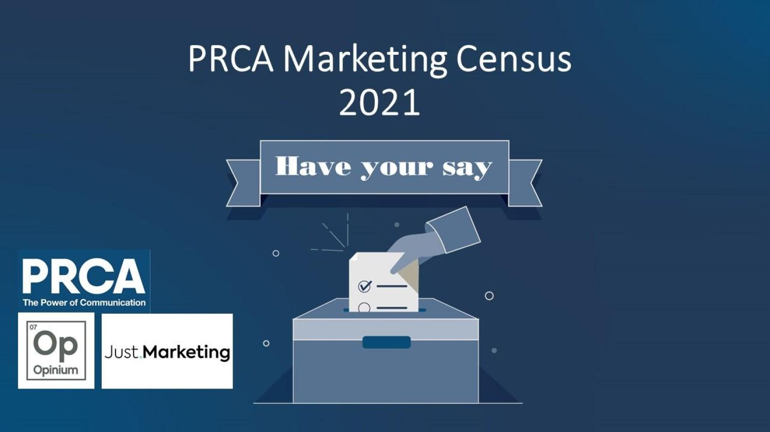 Take part in the PRCA and Just.Marketing inaugural Marketing Census 2021